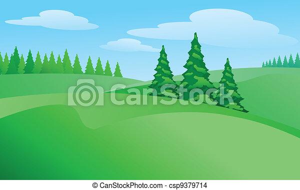 campo, paesaggio - csp9379714