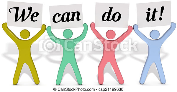 Can do people team signs - csp21199638