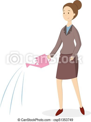 can., donna, irrigazione - csp51353749