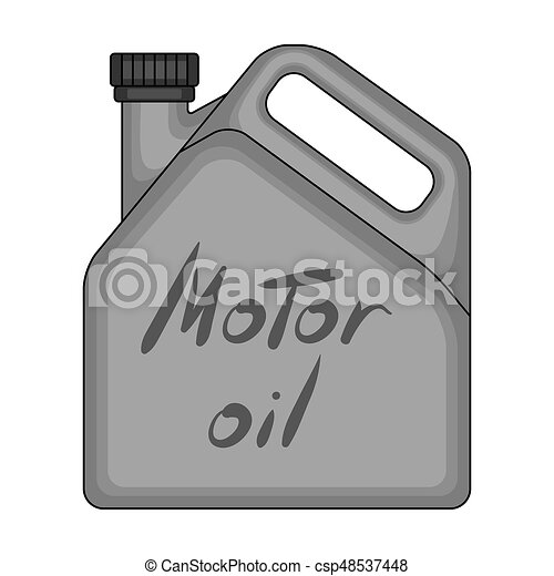 Can Of Engine Oilr Single Icon In Monochrome Style Raster Bitmap