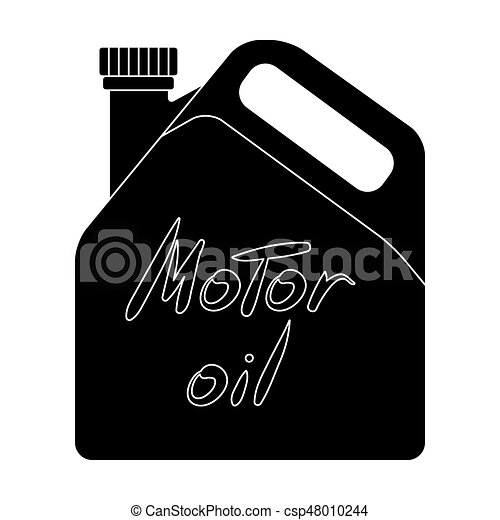 Can Of Engine Oilr Single Icon In Black Style Vector Symbol Stock