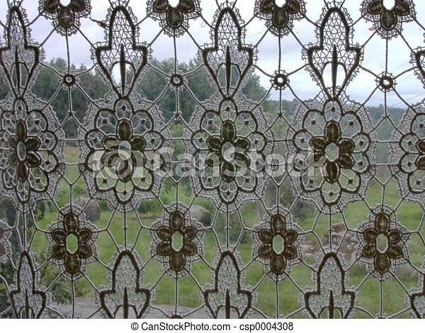 pictures of lacy curtain