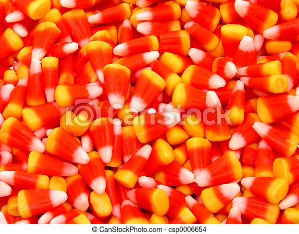 Close Up Candy Corn - csp0006654