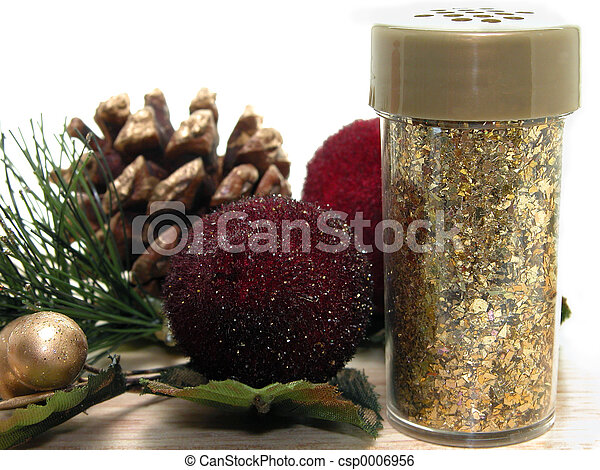 Gold Glitter Crafts - csp0006956