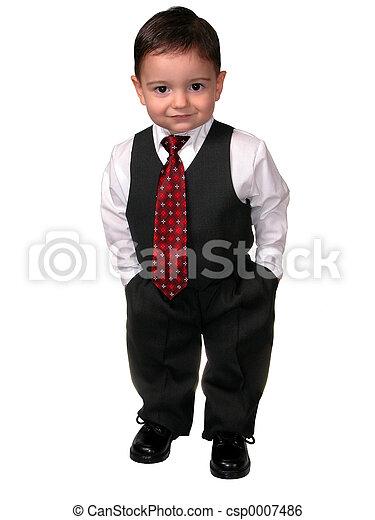 タイ, 子供, スーツ, 男の子 - csp0007486