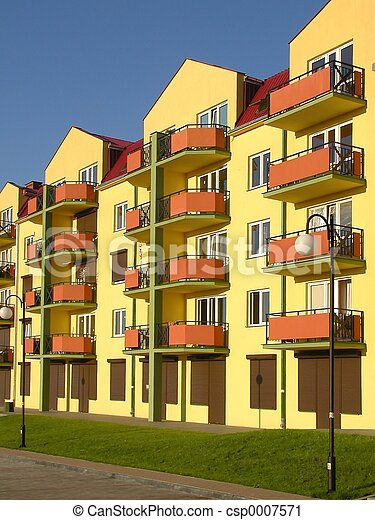 Stock Photography Of Flats Block Of Flats Csp0007571 Search Stock Photos Pictures Images