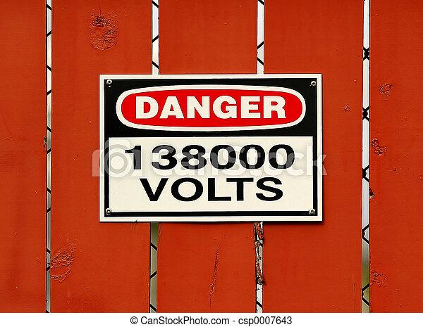 高く, 電圧, 危険 - csp0007643
