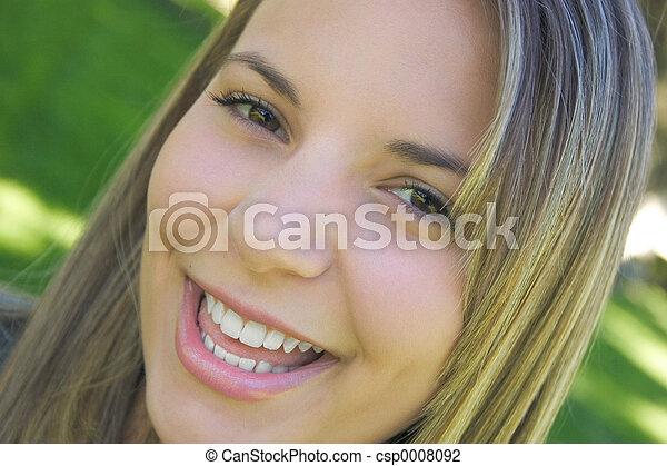 Smiling Woman - csp0008092