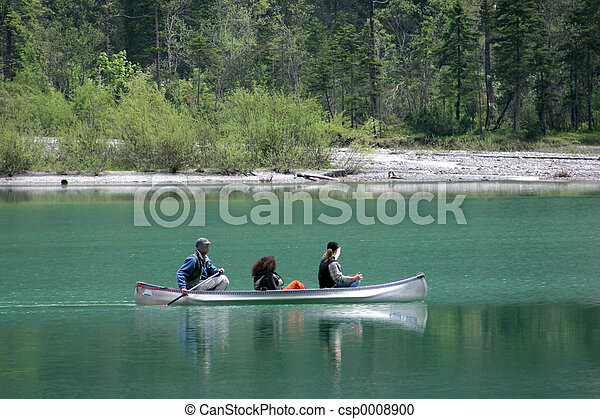 Rowers on Lake - csp0008900