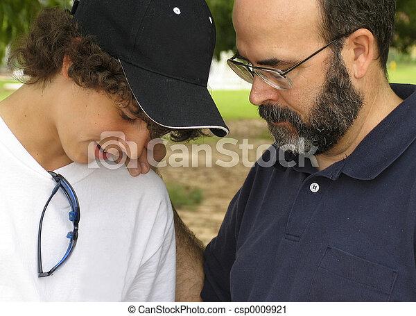 Father son talk - csp0009921
