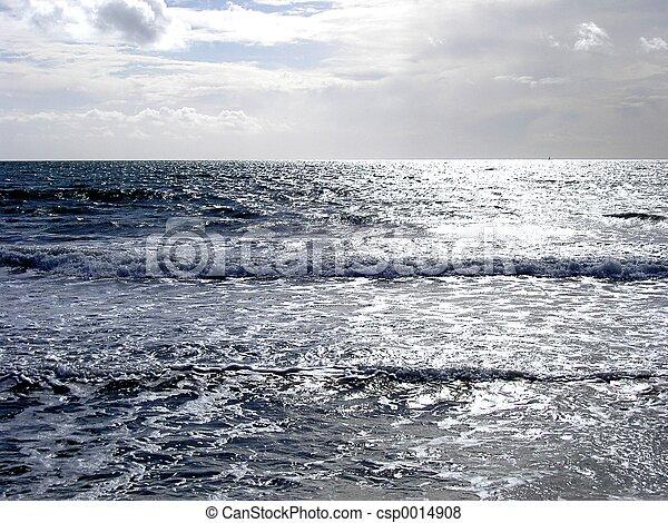Beautiful silver seascape.