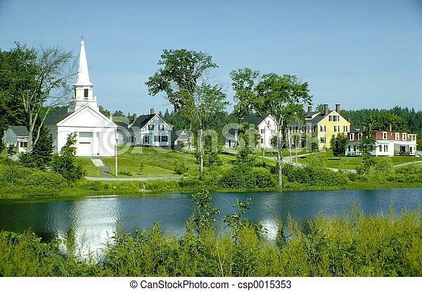 教堂, 村莊 - csp0015353