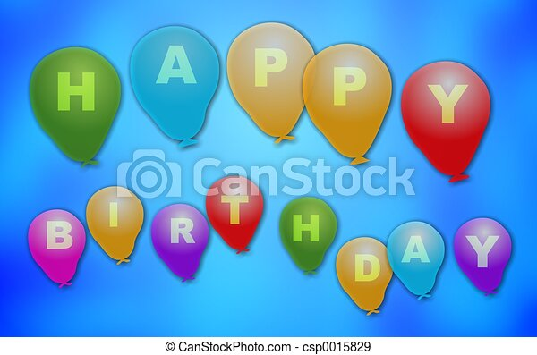 Birthday Balloons - csp0015829