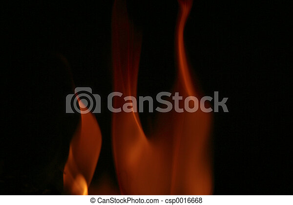 An abstract look at fire.