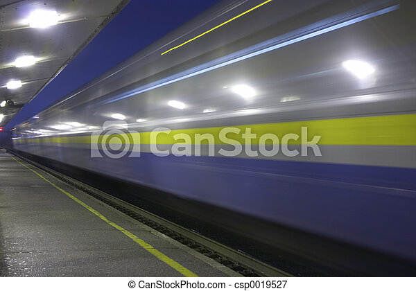 Speeding Train - csp0019527
