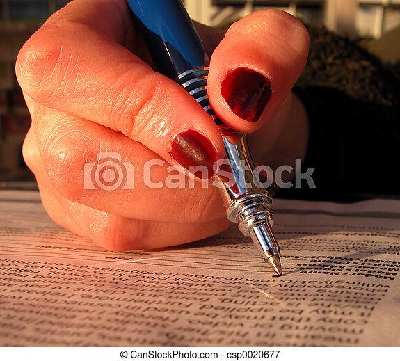 firma, documentos - csp0020677