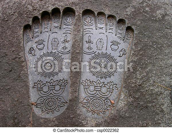 Budha's soles - csp0022362