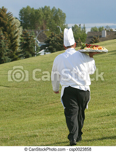 chef at golf course - csp0023858