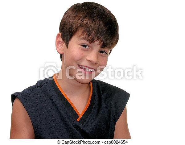 Boy w/ Braces Smiling - csp0024654