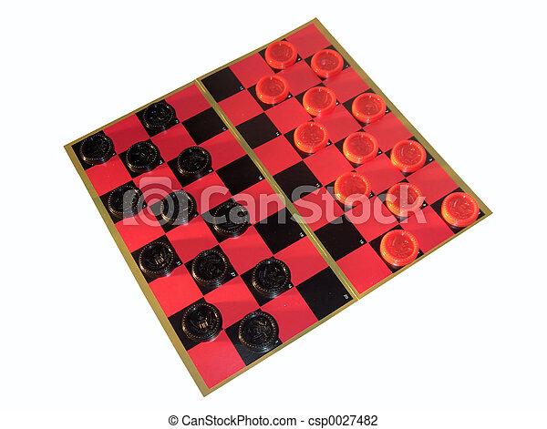 Checkers & Board - csp0027482