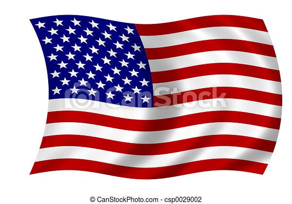 amerikanische, Fahne - csp0029002
