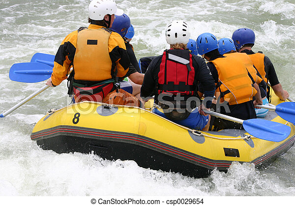 Whitewater rafting - csp0029654