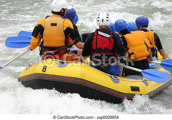 Whitewater rafting - csp0029654