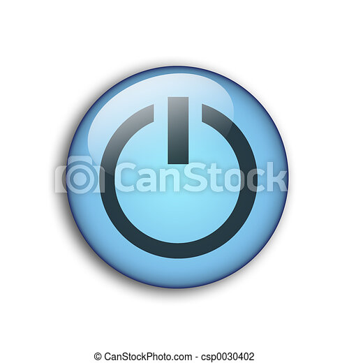 aqua button - csp0030402