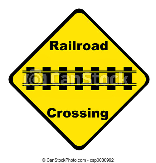 Railroad Crossing Sign - csp0030992