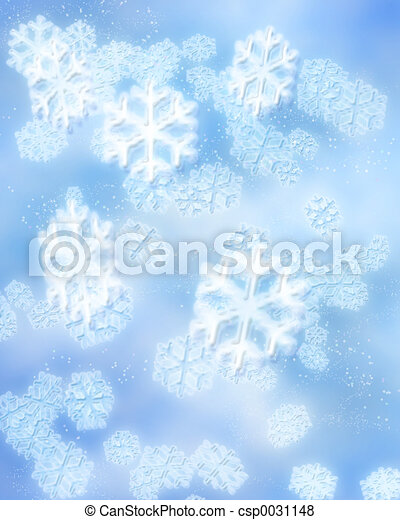winter snowflakes - csp0031148