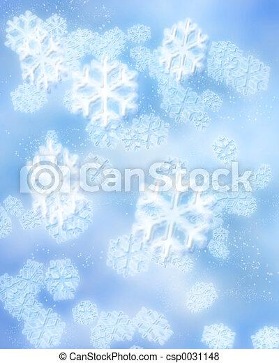 winter snowflakes - csp0031148