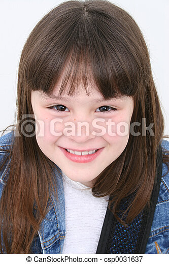 Seven Year Old Girl - csp0031637