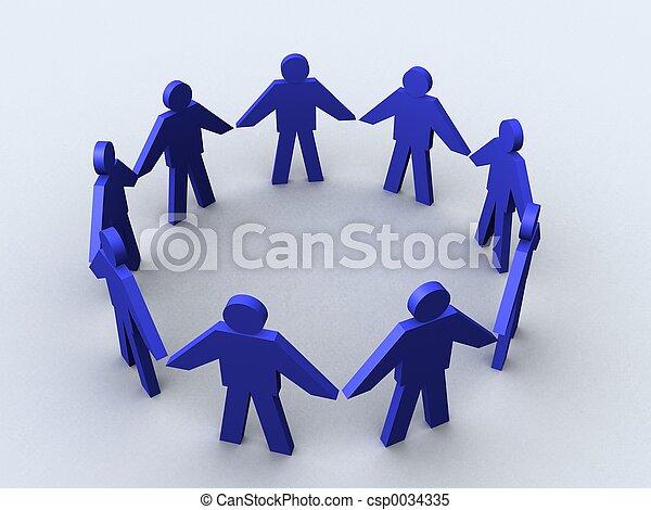 Business circle. - csp0034335