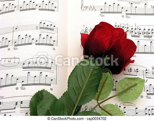 Music rose - csp0034702