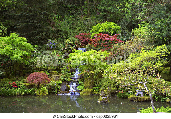 Japanese Waterfall - csp0035961