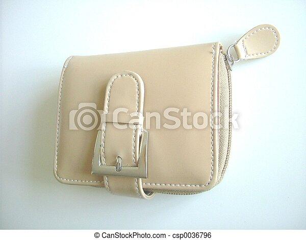 Leather purse - csp0036796
