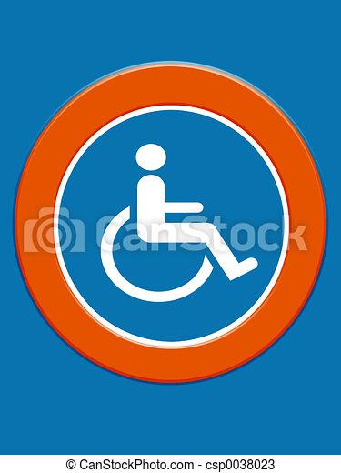 Disabled symbol - csp0038023