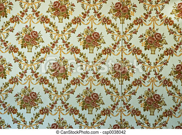 Old Wallpaper - csp0038042