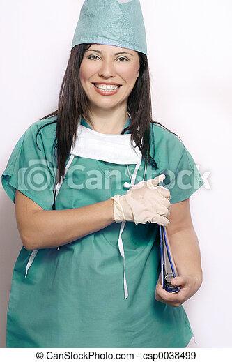Nurse in hospital uniform