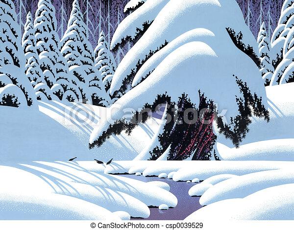 Fir Tree in Winter - csp0039529