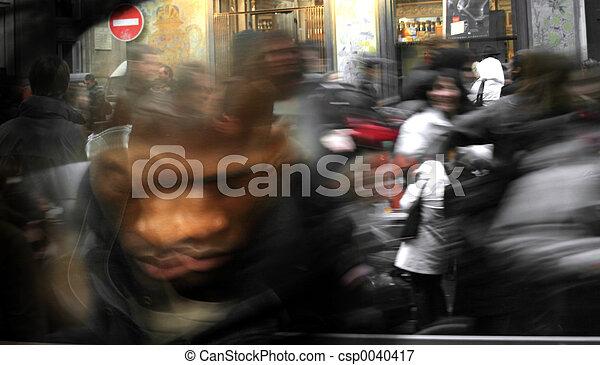 Running crowd blur - csp0040417