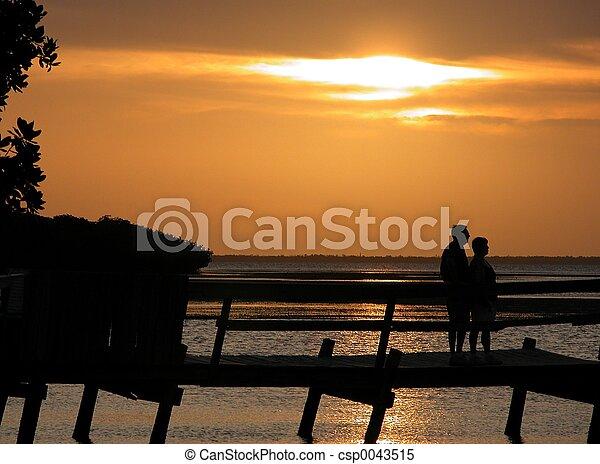 Watching A Sunset - csp0043515
