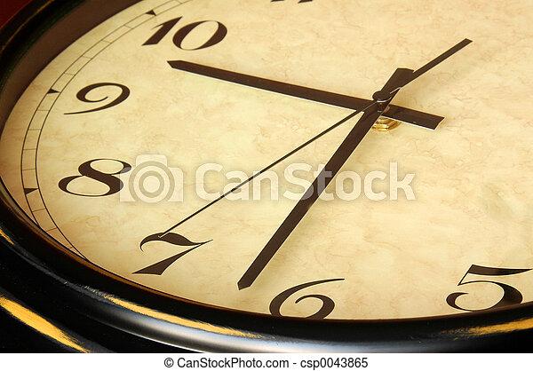 Antique clock detai - csp0043865