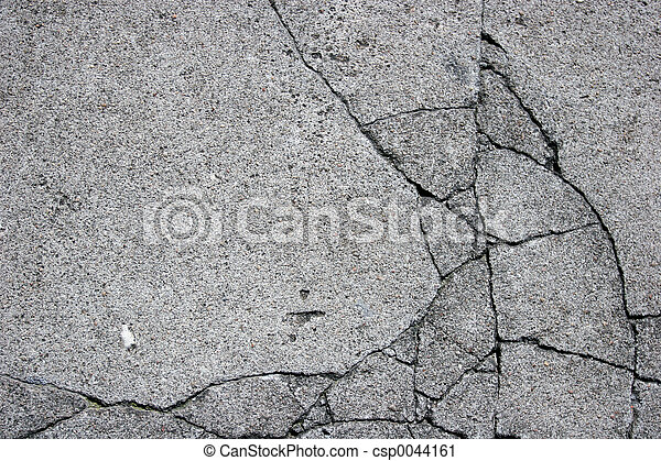 Cracked Concrete - csp0044161
