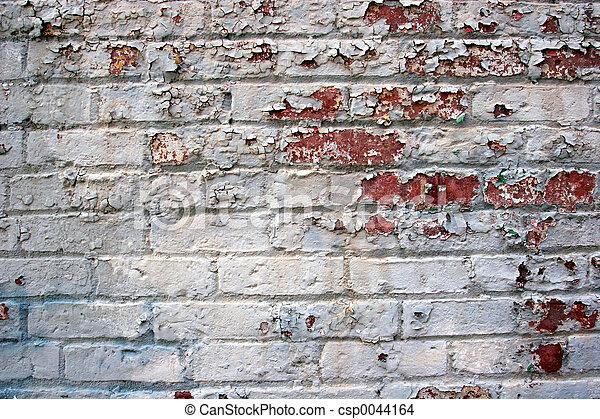 photo de peler peinture sur vieux brique mur. Black Bedroom Furniture Sets. Home Design Ideas