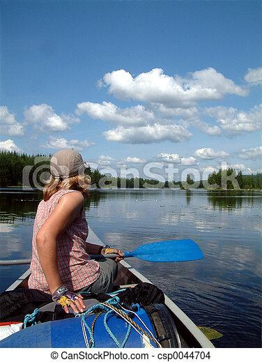 canoe trip - csp0044704