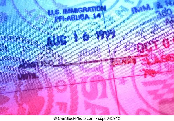 Immigration Stamp - csp0045912