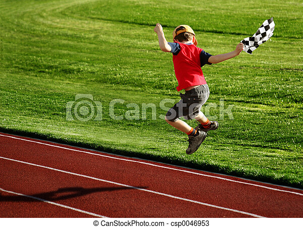 Boy on a racetrack - csp0046953