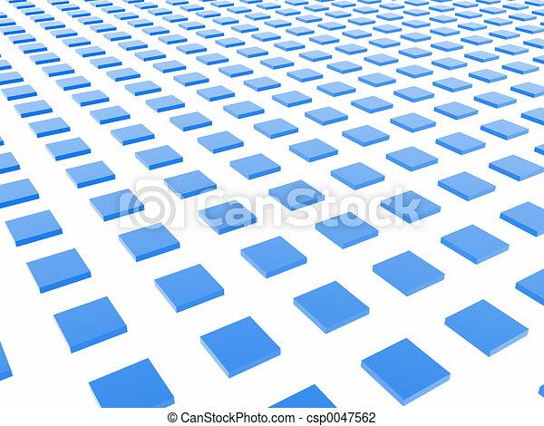 Blue Box Grid - csp0047562