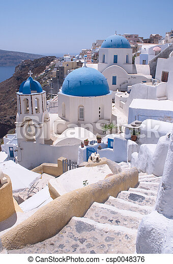 Santorini churches 2 - csp0048376